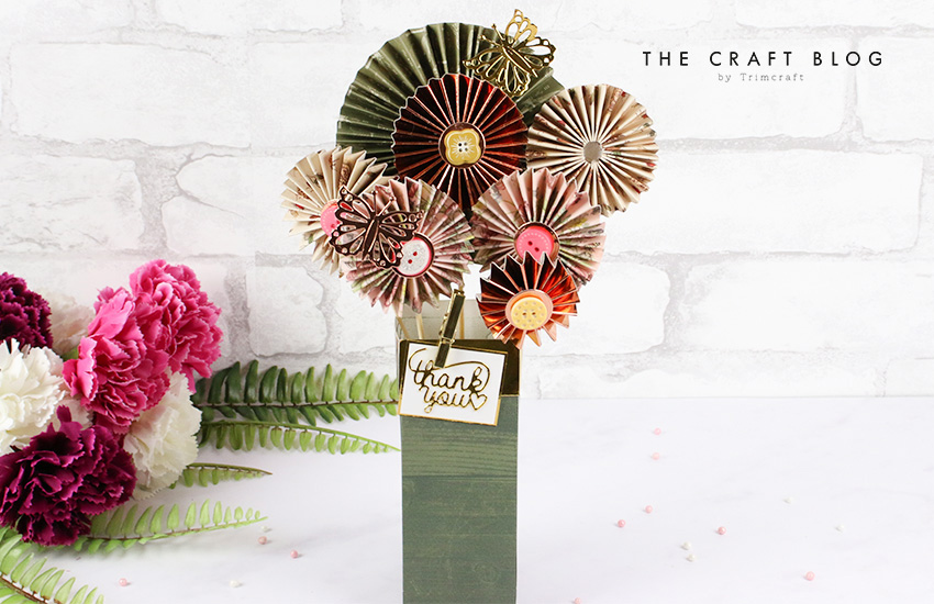 How To Create A Diy Rosette Bouquet The Craft Blog