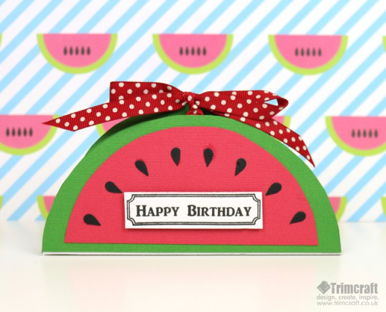 Card shape of the month watermelon the craft blog for Craft of the month