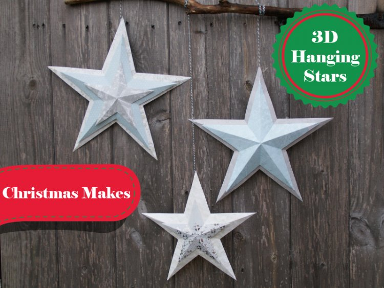 Diy 3d christmas paper stars with f the craft blog for 3d christmas decoration templates