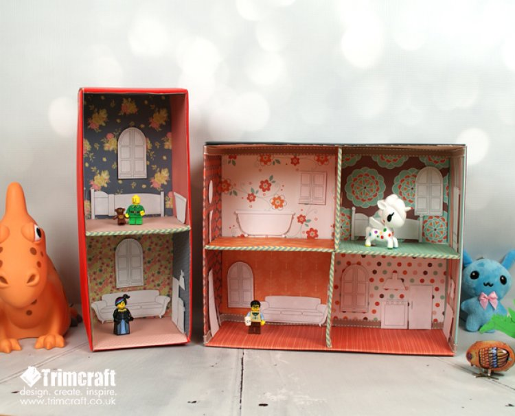 Paper doll house diy