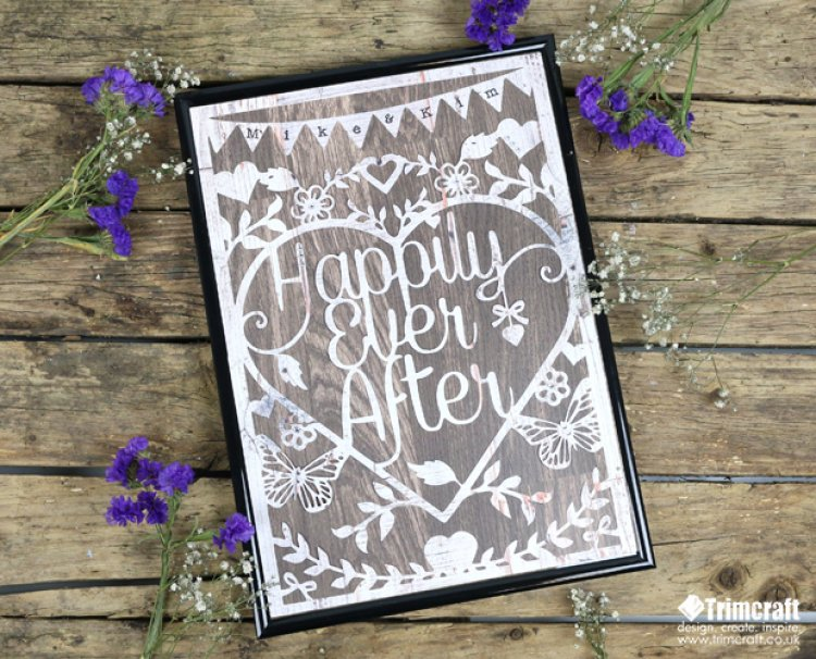 photograph relating to Free Printable Paper Cut Templates identified as Initial Version Wild at Middle Marriage The Craft Site