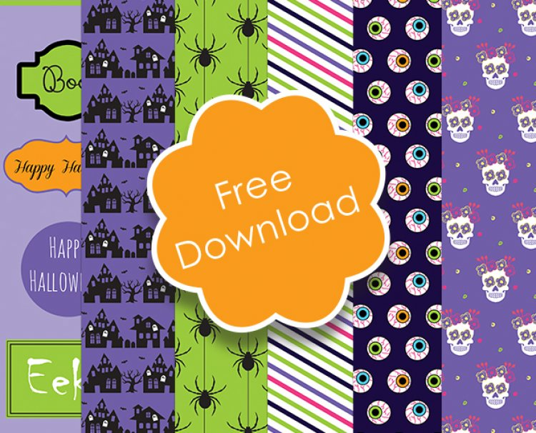 photograph about Printable Halloween Paper named Free of charge Halloween Printable Papers The Craft Web site