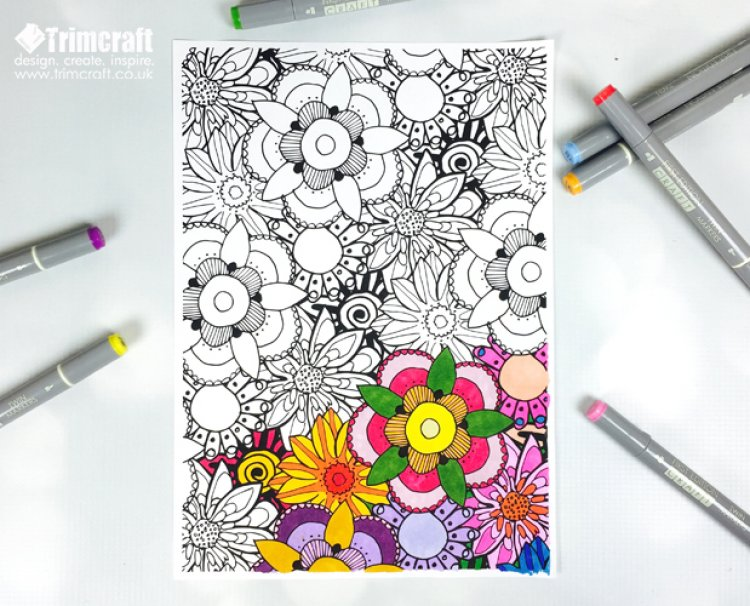 blog september 2015 join the colouring craze with the free printable trimcraft adult colouring papers - Colouring Papers