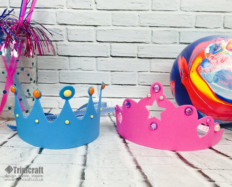 Kids Craft Foam Crown Tutorial With