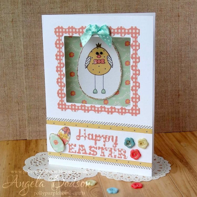 happy easter chick card with sim  craft inspiration