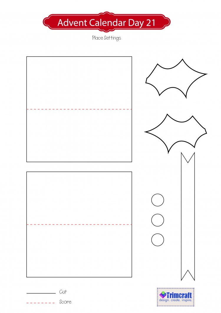 Holly place settings template craft inspiration inspiration holly place settings template advent day 21 pronofoot35fo Image collections