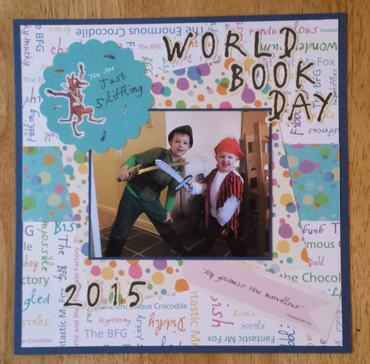 8x8 Scrapbook Layout World Book