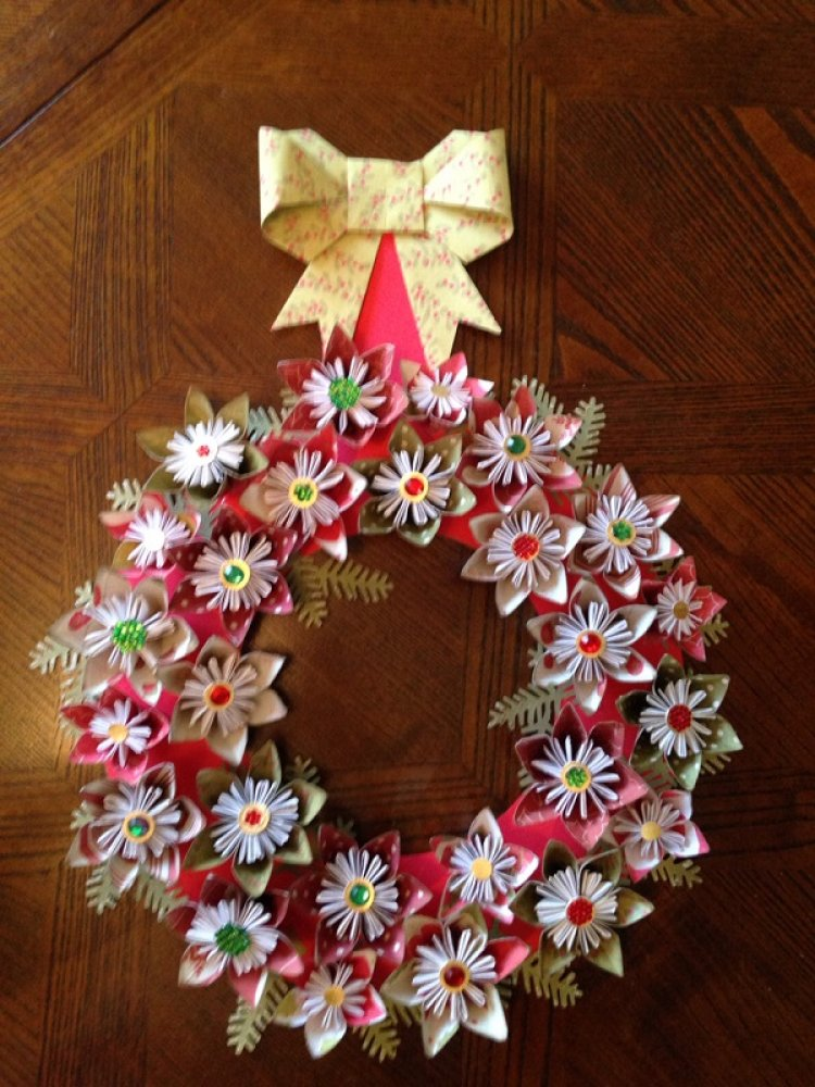 Origami Christmas Wreath | Craft Inspiration